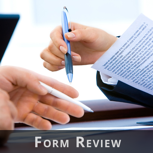 Court Form Review